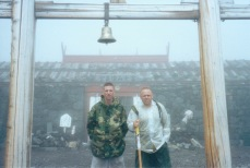 Atop Mount Fuji, Japan, Summer 2000 with my first platoon sergeant, Gunny Brannon, a legend to everyone who knew him.